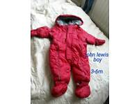 winter suit john lewis 3-6m