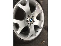 BMW X5 ALLOY WHEELS & REAR TYRES NO FRONTS 5X120