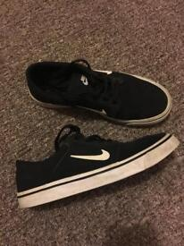 Nike suede trainers