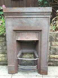 Old Victorian Cast Iron Fireplace