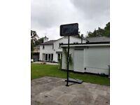 Freestanding full size basketball net