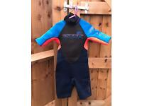 C-Skins Kids Childs Wetsuit Shorty Size 5 years