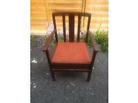 Vintage Commode Chair
