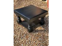 Coffee table, painted in off black, solid wood