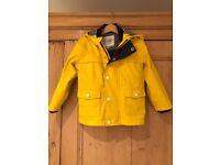 M&S children's (unisex) yellow raincoat age 3-4