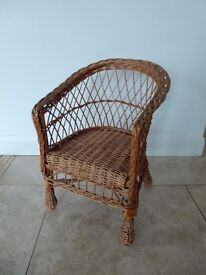 Kids wicker chair