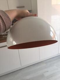 Cafe style light shade white and orange used for 3 weeks