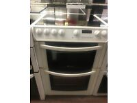 60CM WHITE HOTPOINT DOUBLE OVEN ELECTRIC COOKER