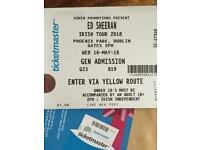 Ed Sheeran Dublin Phoenix Park sell or swap