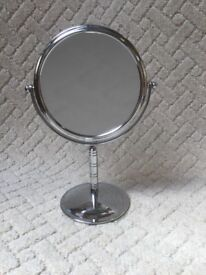 Quality Freestanding Reversaboe Hinged Chrome Shaving Mirror