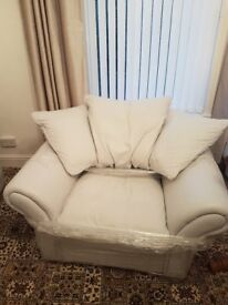 white leather corner suite