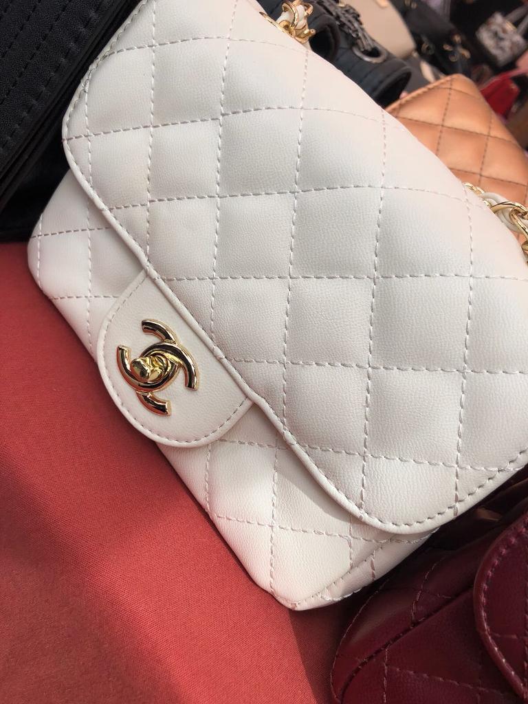 Womens Chanel Mini Handbags CC Classic Designer Fashion Pink Black White  Square Chain 9cd4904298