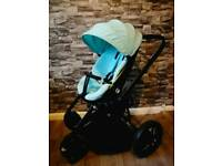 Quinny moodd travel system novel Nile green black pram pushchair
