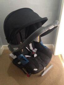 Britax i safe car seat and isofix base