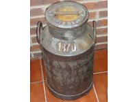 Authentic Milk Churn with Red Copper Writing