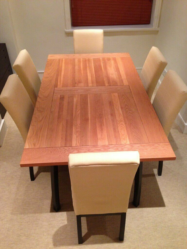 John Lewis Dining Table and Six Matching Dining Chairs Set ...