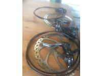 Shimano Deore hydro brakes x 2 with disks