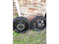 Yamaha Fazer wheels tyres