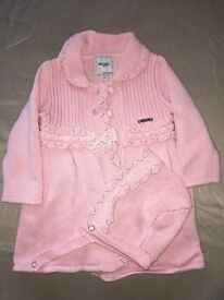 Baby girls coat & bonnet
