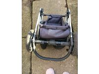 Large Red Pram with extras