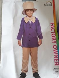 Willy wonker dress up costume 9-12 years old