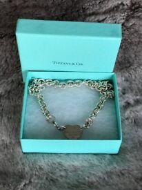 Tiffany heart tag choker