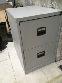 Two Draw Steel Filing Cabinet