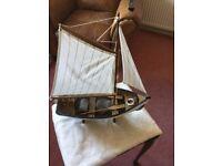 Beautiful little model wooden boat