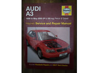 Audi A3 Petrol & Diesel Service and Repair Manual: 1996 to 2003 by Haynes -Paper
