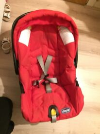 Pushchair and car seat together