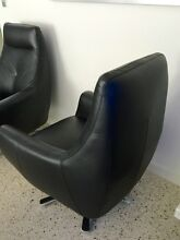 Leather Swivel Chairs - High Quality - As New - Will Separate Ardross Melville Area Preview