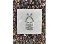 Engraved paving stone with your own Family crest or logo wording garden design
