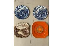 Antique plates Myott Royal Mail Blue&white.