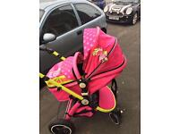 Like new Isafe pram system mea lux + car seat and bag