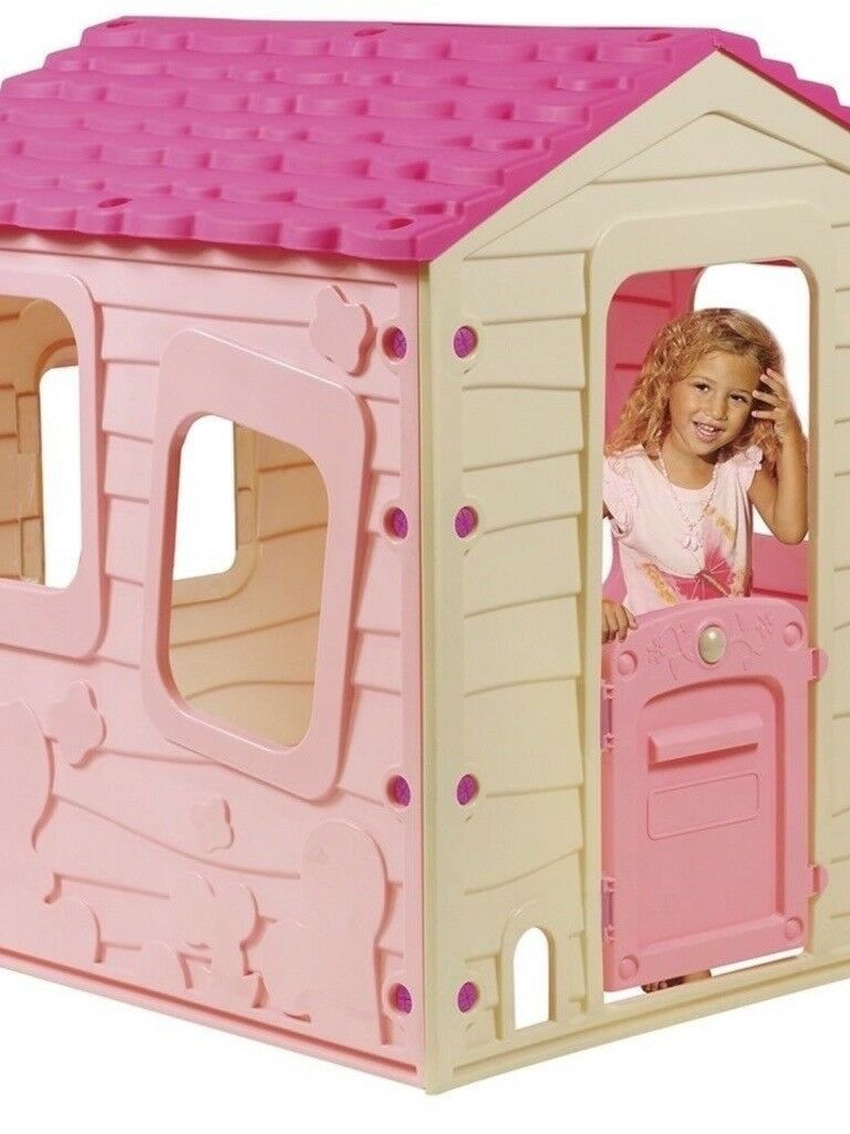 Pink Wendy House In Stockton On Tees County Durham