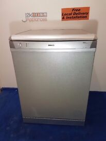 DW006- Silver Beko AAA Class Full Size Dishwasher with warranty can be delivered or collected