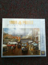 """KING - Classic Collection - 1000 Piece Jigsaw. """"Road Meets Rail"""" (Southend) 5062."""