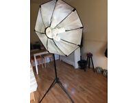 Photography Soft box 80cm Octagonal lighting (105w x5 head )