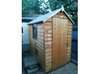 4ft x 6ft Garden shed from B&q. 1 year old. Bought as temporary storage solution. Now unwanted
