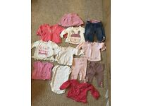 Large bundle of girls clothes age 3-6 months, in excellent condition