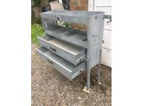 Van Guard van shelving drawers racking