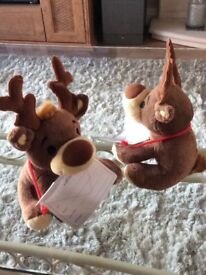 Box of 125 small reindeer with plastic wallets