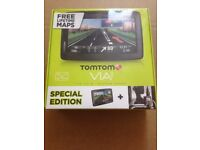 "Brand New-TomTom Via 135 M Special Edition 5"" Sat Nav -Western Europe-Free Lifetime Maps RRP £120"