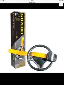 BRAND NEW UNUSED Stoplock Professional Pro Steering Wheel Lock Anti-Theft Thatcham Cat.3 Approved