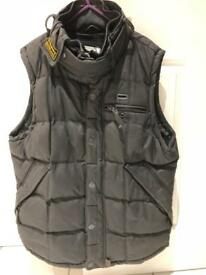 Superdry Men's Ton Up 58 Motorcycle waxed Gilet Size XL