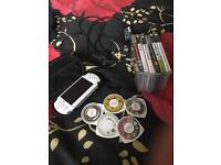 White Sony psp games and videos