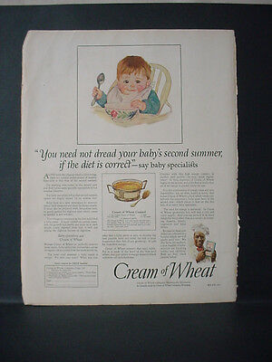 1924 Cream of Wheat Cereal Baby's Second Summer Vintage Print Ad 11704