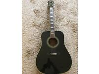 Ibanez Concord F300BK (Lawsuit Gibson Hummingbird) acoustic guitar. Made in Japan MIJ