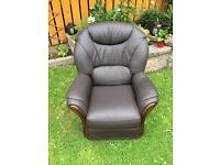 Brown leather Chair Harvey Norman