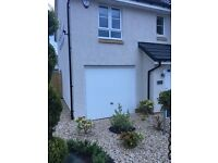 Garage door in white- 2 months old. Removed from brand new Barrat Home in Uddingston